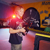 Spencer Blaes, 9, demonstrates the race cars in the Monte Carlo room during the Just After Midnight open house  at Broomfield High School on Saturday. <br /> <br /> April 24, 2010<br /> Staff photo/ David R. Jennings