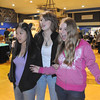 "Molly Ditges, 15, left, Maren Philip, 15, and Bridget Admire, 15, are taken in by the perspective painting of the Louvre Museum by Kan Delgado as they tour during the Just After Midnight open house at Broomfield High School on Saturday.  They said ""it's like falling into the painting.""<br /> <br /> April 24, 2010<br /> Staff photo/ David R. Jennings"