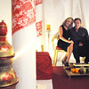 Terri and Al Fisher pose in the wedding chapel with an India theme during the Just After Midnight open house  at Broomfield High School on Saturday. <br /> <br /> April 24, 2010<br /> Staff photo/ David R. Jennings