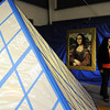 Amanda Elias walks through the Louvre Museum area during the Just After Midnight open house  at Broomfield High School on Saturday. <br /> <br /> April 24, 2010<br /> Staff photo/ David R. Jennings
