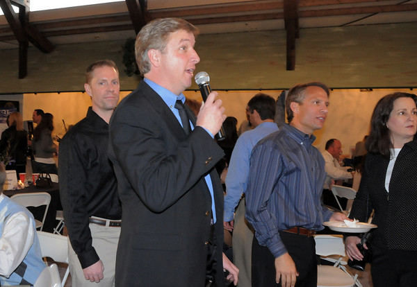 Athletic director John Long was the announcer for the Broomfield High School Sports Gala on Friday at the Church Ranch Events Center. <br /> March 18, 2011<br />  staff photo/David R. Jennings