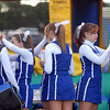 """The Broomfield High cheerleaders put """"B"""" temporary tattoos on their cheeks at the tailgate party before Friday's game against Monarch.<br /> September 16, 2011<br /> staff photo/ David R. Jennings"""