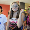 Freshman Victoria Biggerstaff, center, walks on a tour of the school wearing glasses with her Blue Crew freshman group during orientation at Broomfield High School on Monday.<br /> <br /> August 15, 2011<br /> staff photo/ David R. Jennings
