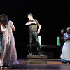 Liam Broadhurst sings to the ladies during rehearsal for Broomfield High's production of Carousel on Monday.<br /> <br /> <br /> April 9, 2012 <br /> staff photo/ David R. Jennings