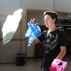 Joshua Walquist practices his juggling act during rehearsal of Broomfield High's production of Carousel on Monday.<br /> <br /> <br /> April 9, 2012 <br /> staff photo/ David R. Jennings