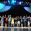 The male chorus closing their number during rehearsal for Broomfield High's production of Carousel on Monday.<br /> <br /> <br /> April 9, 2012 <br /> staff photo/ David R. Jennings