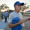 Paul Shepherd, class of 1962 the first senior class of Broomfield High, chats about his high school experience 50 years ago during Friday's Broomfield High homecoming game at Elizabeth Kennedy Stadium.<br /> September 21, 2012<br /> staff photo/ David R. Jennings