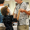 Helen Magness, left, dances with Vincent Hauser, 17, during the Broomfield High School's Future Business Leaders of America and Key Club Senior Citizen Prom at Highland Trails Retirement Homes on Saturday.<br /> <br /> April 11, 2010<br /> Staff photo/David R. Jennings
