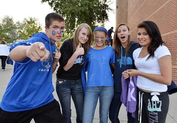 at the tailgate party prior to the Broomfield vs. Legacy football game at Elizabeth Kennedy Stadium on Friday.<br /> September 7, 2012<br /> staff photo/ David R. Jennings