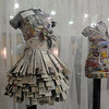 Dresses made from newspapers were on display in the gift shop area  for JAM, Just After Midnight, after prom party at Broomfield High School on Saturday.<br /> April 16, 2011<br /> staff photo/David R. Jennings