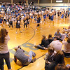 More than 100 Lil' Poms perform at halftime of the Broomfield girls basktball game on Friday in the Wilkerson Gym. <br /> February 10, 2011<br /> staff photo/David R. Jennings