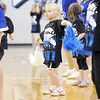 Lidia Baker, 5, dances during the Lil' Poms clinic at Broomfield High on Friday. <br /> February 10, 2011<br /> staff photo/David R. Jennings