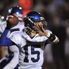 Longmont's quarterback Forrest Wetterstrom passes against Broomfield during Friday's game at Elizabeth Kennedy Stadium.<br /> October 21, 2011<br /> staff photo/ David R. Jennings