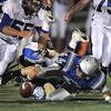Broomfield and  Longmont players scramble for the loose ball during Friday's game at Elizabeth Kennedy Stadium.<br /> October 21, 2011<br /> staff photo/ David R. Jennings