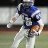Broomfield's Dan Perse runs the ball downfield against Longmont during Friday's game at Elizabeth Kennedy Stadium.<br /> October 21, 2011<br /> staff photo/ David R. Jennings