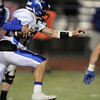 Longmont's Josh Cogdill runs the ball downfield agianst Broomfeild during Friday's game at Elizabeth Kennedy Stadium.<br /> October 21, 2011<br /> staff photo/ David R. Jennings