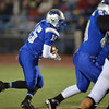 Broomfield's Connor Eakes runs the ball against Monarch during Friday's game at Elizabeth Kennedy Stadium.<br /> October 25, 2012<br /> staff photo/ David R. Jennings