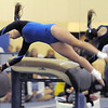 Broomfield's Gabby Maiden performs on the vault during competition at the Paul Derda Recreation Center in Broomfield on Tuesday.<br /> September 13, 2011<br /> staff photo/ David R. Jennings