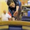 Broomfield's Sophie Meints on the vault during competition at the Paul Derda Recreation Center in Broomfield on Tuesday.<br /> September 13, 2011<br /> staff photo/ David R. Jennings