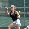 Stephanie Giltner returns the ball to Laura Ewert during the Women's Open Tennis Final at the Broomfield Swim and Tennis Club on Saturday.<br /> <br /> July 14, 2012<br /> staff photo/ David R. Jennings