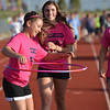 Legacy High School cheerleader Delaney Bartel, 14, walks with a hula hoop during Friday's Broomfield Relay For Life at Holy Family High School.<br /> June 8, 2012 <br /> staff photo/ David R. Jennings