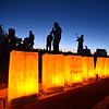Luminarias honoring cancer survivors and those who lost the battle during Friday's Broomfield Relay For Life at Holy Family High School.<br /> June 8, 2012 <br /> staff photo/ David R. Jennings