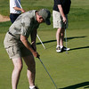 Don Voss putts during the Broomfield Rotary seventh annual Frank Varra Golf Tournament on Monday, May 24, 2010, at Broadlands Golf Club. Photo by Matt Kelley/For the Enterprise