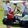 Police Chief Tom Deland watches where his golf ball lands on the 9th hole during the Broomfield Evening Rotary Club's Frank Varra Memorial  Broomfield Police and North Metro Fire District Benefit Golf Tournament at the Broadlands Golf Course on Monday.<br /> May 23, 2011<br /> staff photo/David R. Jennings