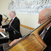 The Rob Tate Trio, Ted Worth at drums, Rob Tate at keyboard and Thomas Severino at bass entertains during the 20th anniversary celebration of the Broomfield Senior Center on Sunday.<br /> March 20, 2011<br />  staff photo/David R. Jennings