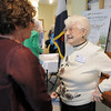 Olivia Stoner, left, chats with Wilma Huckins, 98, during the 20th anniversary celebration of the Broomfield Senior Center on Sunday.<br /> March 20, 2011<br />  staff photo/David R. Jennings