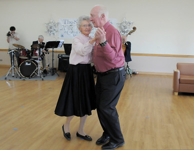Ann Robinson and Dick Schack warm up the dance floor during the 20th anniversary celebration of the Broomfield Senior Center on Sunday. March 20, 2011  staff photo/David R. Jennings