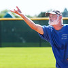 Bob Hugenard pitches for the Broomfield Dairy Queen team against the PrimeTime  team during Wednesday's senior softball game at Community Park.<br /> <br /> August 3, 2011<br /> staff photo/ David R. Jennings