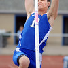 Broomfield's Issac Wilson attempts 14 feet  in the pole vault during the Broomfield Shoot Out Track Meet on Friday at Elizabeth Kennedy Stadium in Broomfield.<br /> March 30, 2012 <br /> staff photo/ David R. Jennings