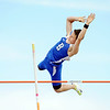 Broomfield's Issac Wilson clears 13 foot 6 inches in the pole vault during the Broomfield Shoot Out Track Meet on Friday at Elizabeth Kennedy Stadium in Broomfield.<br /> March 30, 2012 <br /> staff photo/ David R. Jennings