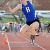 Broomfield's Sarah Hughs in the air for the triple jump during the Broomfield Shoot Out Track Meet on Friday at Elizabeth Kennedy Stadium in Broomfield.<br /> March 30, 2012 <br /> staff photo/ David R. Jennings