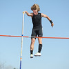 Silver Creek's Erik Monahan pushes the pole away for the 11 foot height in th epole vault during the Broomfield Shoot Out Track Meet on Friday at Elizabeth Kennedy Stadium in Broomfield.<br /> March 30, 2012 <br /> staff photo/ David R. Jennings