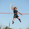 Silver Creek's Erik Monahan in the pole vault during the Broomfield Shoot Out Track Meet on Friday at Elizabeth Kennedy Stadium in Broomfield.<br /> March 30, 2012 <br /> staff photo/ David R. Jennings