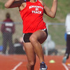 Fairview's Mona Kamath in the triple jump during the Broomfield track meet at Elizabeth Kennedy Stadium on Saturday.<br /> April 3, 2010<br /> Staff photo/David R. Jennings