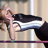 Niwot's Sydney Coffey in the high jump at the Broomfield track meet at Elizabeth Kennedy Stadium on Saturday.<br /> April 3, 2010<br /> Staff photo/David R. Jennings