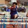 David Wang, Peak to Peak, running in the 110m hurdles during the Broomfield track meet at Elizabeth Kennedy Stadium on Saturday.<br /> April 3, 2010<br /> Staff photo/David R. Jennings