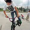 Logan Fox, 13, does a trick on his bike at the Broomfield Skate Park on Tuesday.<br /> <br /> <br /> August 4, 2009<br /> staff photo/David R. Jennings