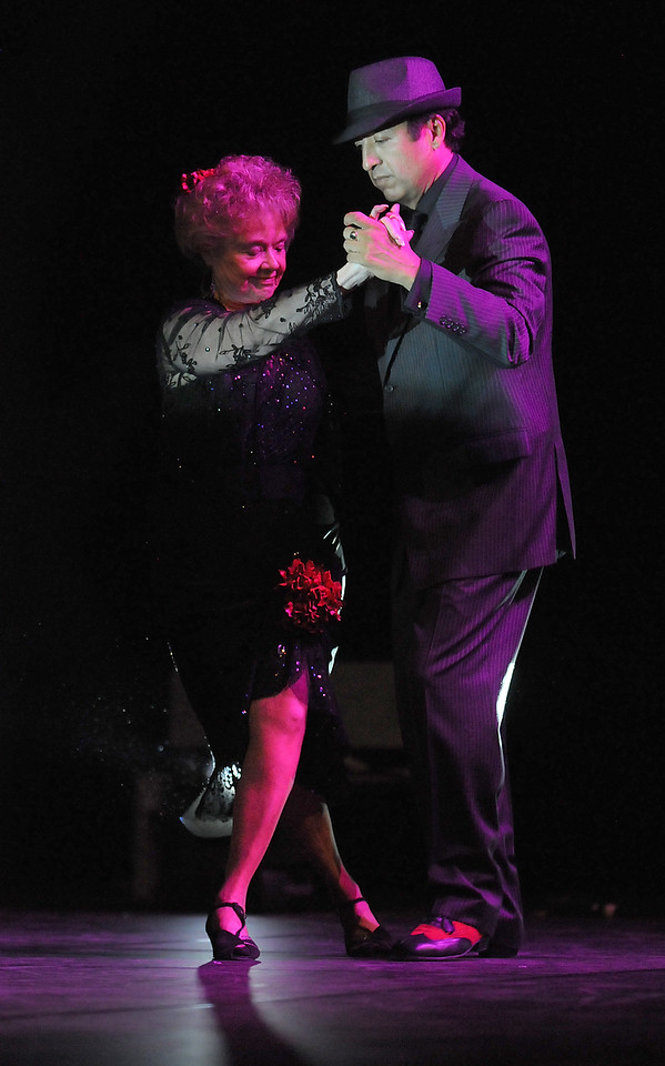 Marlene Politzer dances the Argentine Tango with Jess Rodriguez during Dancing with the Broomfield Stars on Thursday at 1stBank Center.<br /> <br /> September 23, 2010<br /> staff photo/David R. Jennings