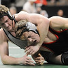 Josh VanTine, Broomfield, defeated Bryce Gaber, Montrose, in the 171 lb. bout at the state 4A wrestling championships at the Pepsi Center on Saturday.  VanTine's win gave the repeat team championship to Broomfield.<br /> February 20, 2010<br /> Staff photo/David R. Jennings