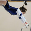 Kelsey Dilz, Broomfield, performs her routine on the bars during the state 5A gymnastics meet at Thornton High School on Friday.<br /> <br /> November 4, 2011<br /> staff photo/ David R. Jennings