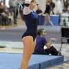Allie Burgess, Broomfield, shows disapointment with her routine on the beam during the state 5A gymnastics meet at Thornton High School on Friday.<br /> <br /> <br /> November 4, 2011<br /> staff photo/ David R. Jennings