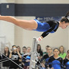 Broomfield's Allie Burgess performs a routine on the bars while competing during the state 5A gymnastics meet at Thornton High on Friday. <br /> November 5, 2010<br /> staff photo/David R. Jennings