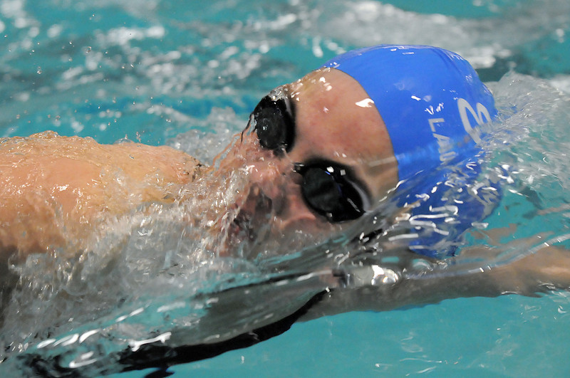 Broomfield's Katalena Laufasa-Duncan swimming in the 200 yard IM during the Coaches Invitational Swim Meet at Mountain View Aquatic Center in Loveland on Saturday.<br /> <br /> December 18, 2010<br /> staff photo/David R. Jennings