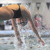 Broomfield's Abi Young launches off the blocks for the 200 yard freestyle relay during the 4A state championship swim meet at Mountain View High School in Loveland on Saturday. <br /> February 12, 2011<br /> staff photo/David R. Jennings
