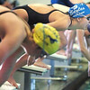 Broomfield's Heather Shaver launches off the blocks for the 100 yard freestyle at the 4A state championship swimmeet at Mountain View High School in Loveland on Saturday <br /> February 12, 2011<br /> staff photo/David R. Jennings