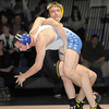 """Broomfield's Phil Downing wrestles Thompson Valley's Nick Nira in the 138 lb. weight class during Thursday's match at Broomfield.<br /> For more photos please see  <a href=""""http://www.broomfieldenterprise.com"""">http://www.broomfieldenterprise.com</a><br /> January 19, 2012<br /> staff photo/ David R. Jennings"""